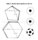 SUGARCRAFT CUTTERS | Football (Hexagon and Pentagon) for 20 cm Cake Pan - Tinplate