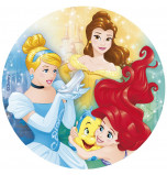 Edible Cake Topper | Disney Princess - Cinderella, Ariel and Belle, Wafer Cake Disc Ø 20 cm