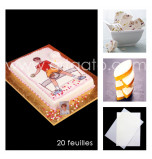 Wafer Paper (Rice Paper)   Single Density (≈ 0,27 mm thick), Smooth, A4 Size – 20 Sheets