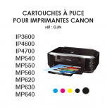 Edible Ink Cartridges for Newest CANON Printers with CHIPS
