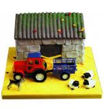Décors de Gâteaux | Kit Ferme / Tracteur- 1 Jeu, en plastique