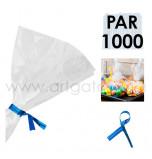 Liens Métal Bleu, Sachet de 1 000  Liens