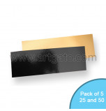 Gold Black Mirror Cake Cards