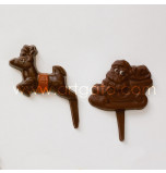 CHOCOLATE MOULD, 30 x 40 cm | Chocopicks Santa on Sleigh with Reindeer - Pack of 5