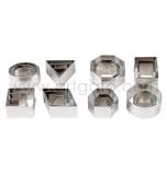 Formes Géométriques - 8 Motifs x 3 Tailles