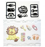 Patchwork Cutters® EMBOSSING CUTTER | Baby Lion and Nursery Items