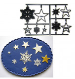 Patchwork Cutters® EMBOSSING CUTTER | Snowflakes and Stars