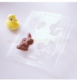 Moule Chocolat Canard et Lapin 3D