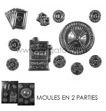 CHOCOLATE (Candy) MOULD | Casino (2 Moulds)