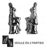 Moule à Chocolat, Lapin Assis Sur Arbre 3D (2 moules)