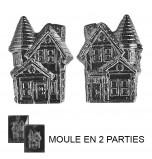 Moule à Chocolat, Maison Hantée 3D (2 moules)