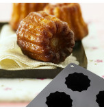Silicone Mould | 8 CANNELES – Ø 5,6 x 5 cm Deep