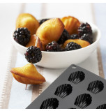 Silicone Mould | 24 Bite size MADELEINES – 4,2 x 1,2 cm Deep