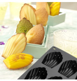 Silicone Mould | 9 MADELEINES – 8 x 4,8 x 2 cm Deep