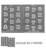 CHOCOLATE (Candy) MOULD | Greek Letters (2 Moulds)