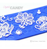 Crystal Candy® Lace Silicon Mat, BEBE