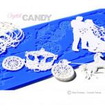 Tapis en Silicone Dentelles Crystal Candy®, Eternal Romance