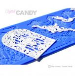 Tapis en Silicone Dentelles Crystal Candy®, Corniche