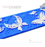 Tapis en Silicone Dentelles Crystal Candy®, Papillons
