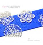 Tapis en Silicone Dentelles Crystal Candy®, Fleurs Cupcakes