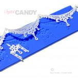 Tapis en Silicone Dentelles Crystal Candy®, Ornate