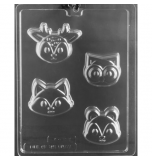 CHOCOLATE (Candy) MOULD | Cookie Mould - Woodland Animal Faces