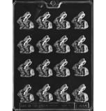 Moule à Chocolat, 16 Petits Lapins Sauvages