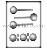 Moule Sucettes Sucre Cuit, Balle de Golf 3D