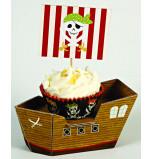 8 Présentoirs Cupcakes Individuels Bateau Pirate Meri Meri®
