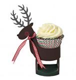 Meri Meri® Noël | 8 Présentoirs Cupcake individuel Renne
