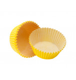 120 Cupcakes Baking Cases | Standard Size - Yellow