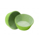 120 Cupcakes Baking Cases | Standard Size - Lime Green
