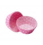 1 200 Cupcakes Baking Cases | Standard Size - Polka Dot Pink