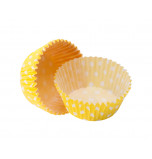 1 200 Cupcakes Baking Cases | Standard Size - Polka Dot Yellow