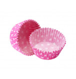 1 200 Cupcakes Baking Cases | Standard Size - Polka Dot Fuchsia Pink