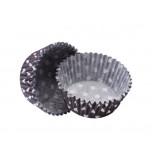 1 200 Cupcakes Baking Cases | Standard Size - Polka Dot Black