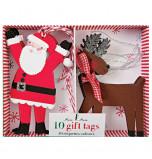 Meri Meri® Noël | Etiquettes Cadeaux Personnages de Noël