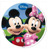 Edible Cake Topper | Mickey & Co - Mickey & Minnie, Wafer Cake Disc Ø 20 cm