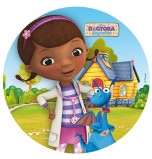 Edible Cake Topper | Doc McStuffins - Dottie & Stufy, Wafer Cake Disc Ø 20 cm