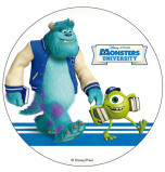 Edible Cake Topper | Monsters University, James & Mike with books, Wafer Cake Disc Ø 20 cm