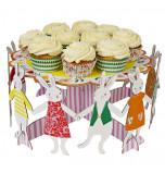 Meri Meri® Pâques | Présentoir à Gâteau ou Cupcakes 1 Etage, Lapins