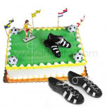 Cake Decoration | Soccer Shoes - 1 pair, plastic
