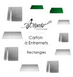 Cartons à Entremets - Argent - Rectangles