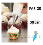 Soft Disposable Piping Bags - Polyethylene | 30 cm - Pack of 20