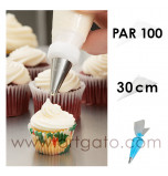 Soft Disposable Piping Bags - Polyethylene | 30 cm - Pack of 100