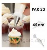 Poches à douille Jetables 45 cm - Par 20